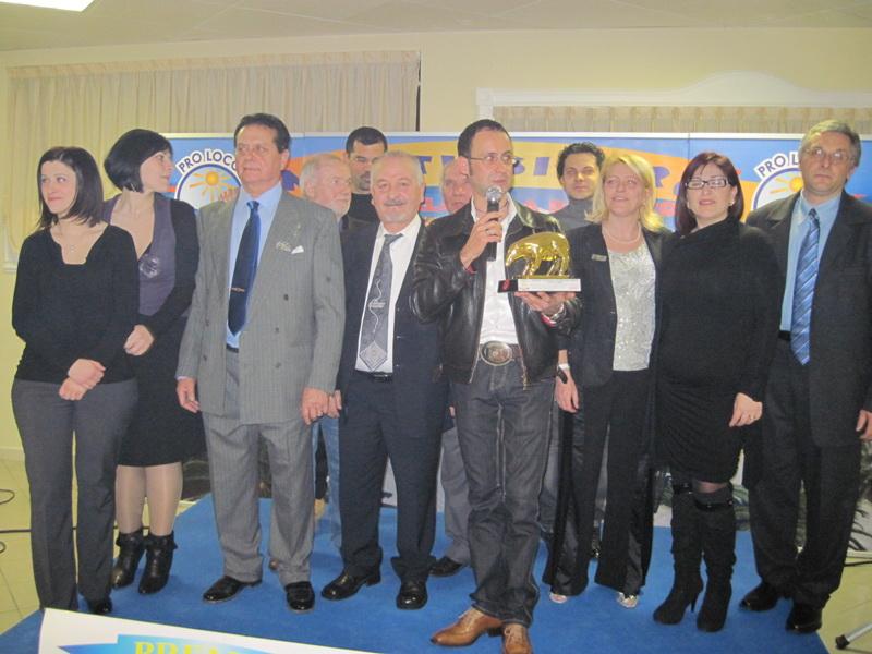 Massimo Clementoni durante la premiazione del